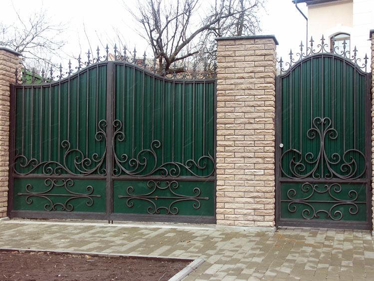 Кованые ворота и калитка №2