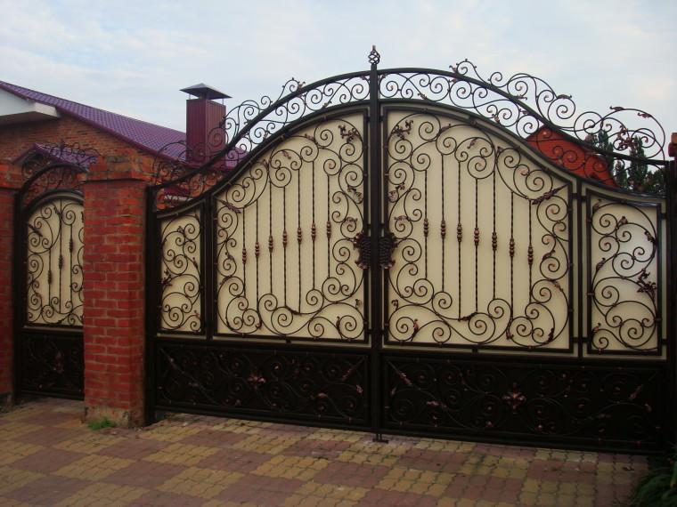 Кованые ворота и калитка №1