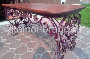Шикарный кованый стол КС-45
