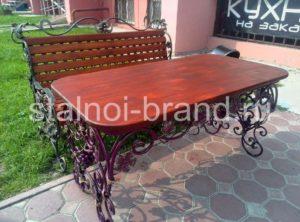 Кованый стол заказать на сайте stalnii-brand.ru