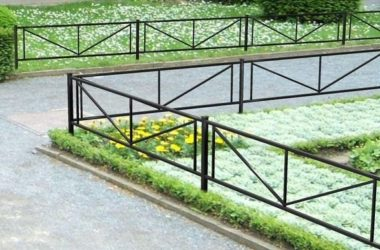 Кованое газонное ограждение ГО-4