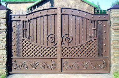 Кованые ворота КВ-19 в Тюмени