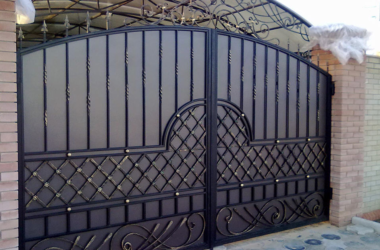 Кованые ворота КВ-23 фото в Тюмени