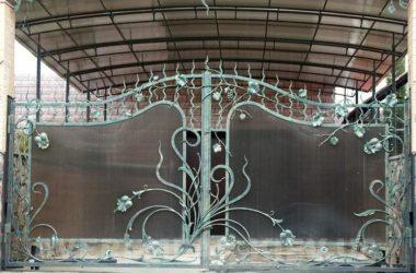 Кованые ворота КВ-52 фото