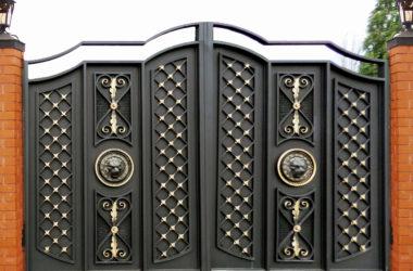 Кованые ворота КВ-53 в Тюмени фото