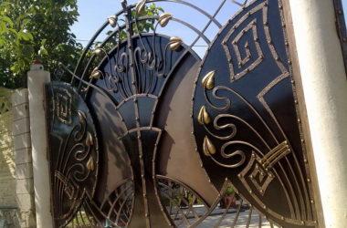 Кованые ворота КВ-7 фото в Тюмени