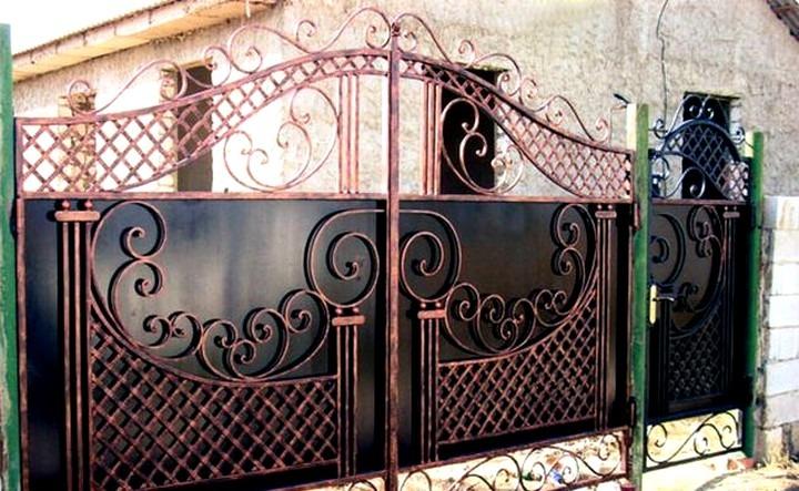 Кованые ворота КВ-9