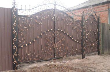 Кованые ворота КВ-38 фото