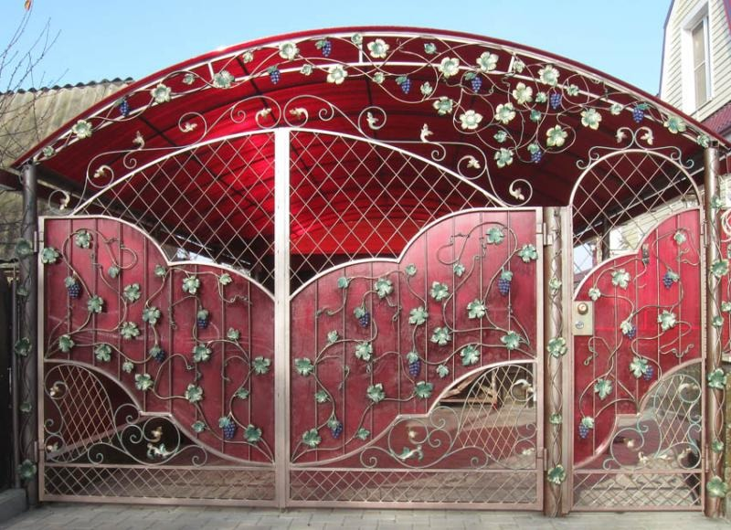 Кованые ворота КВ-41