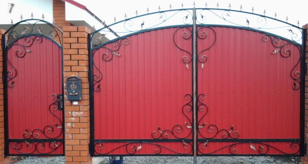 Кованые ворота КВ-25