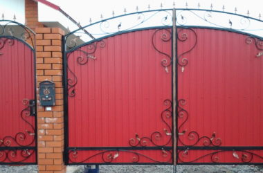 Кованые ворота КВ-25 фото