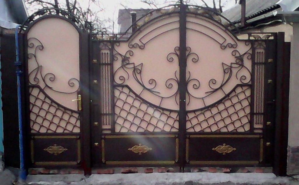 Кованые ворота КВ-39