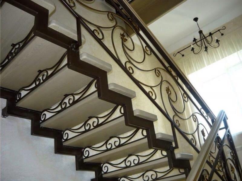 Кованая лестница КЛ-31