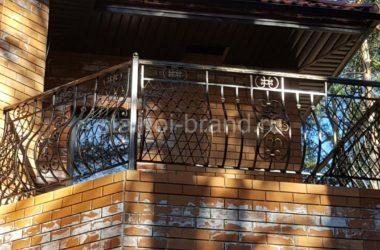 Кованое балконное ограждение КБО-1 фото 1
