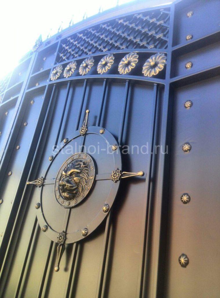 Бюджетные кованые ворота КВ-55