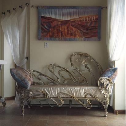 Кованый диван КД-2