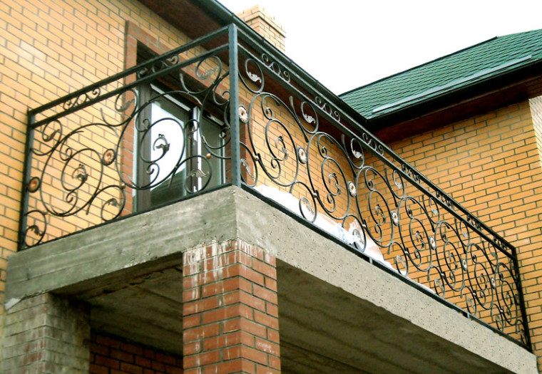 Кованое балконное ограждение КБО-4