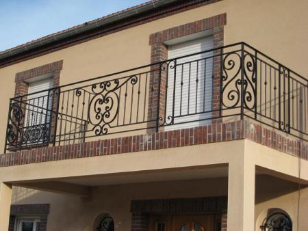 Кованое балконное ограждение КБО-9