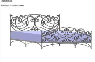 Кованая кровать КК-11