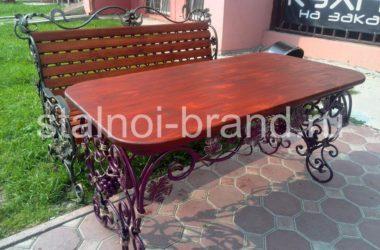 Шикарный кованый стол КС-45 фото 1