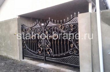 Кованые ворота КВ-1 фото 1