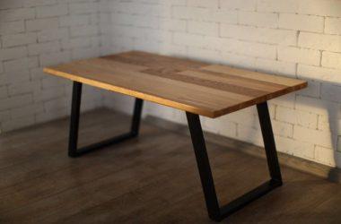 Кованый стол из разных пород дерева КС-47 фото 2