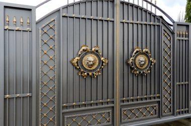 Кованые ворота КВ-17 фото