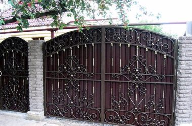 Кованые ворота КВ-18 фото