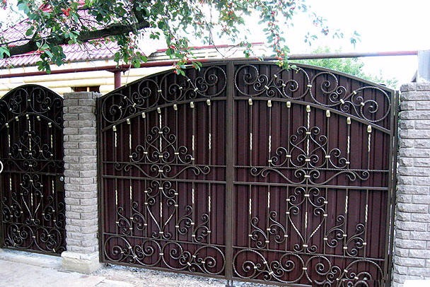 Кованые ворота КВ-18