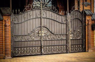 Кованые ворота КВ-20 фото