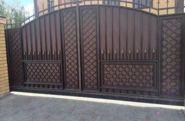 Кованые ворота КВ-14 фото