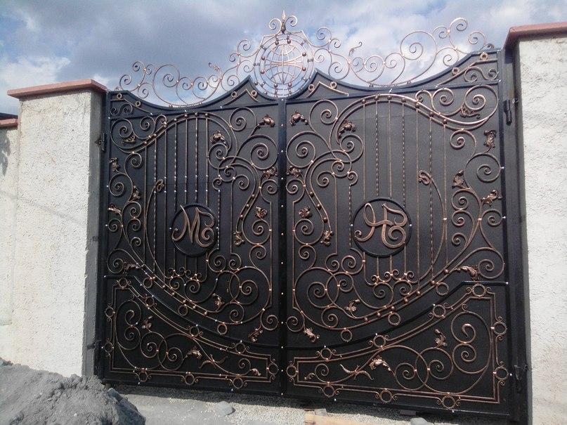 Кованые ворота КВ-22