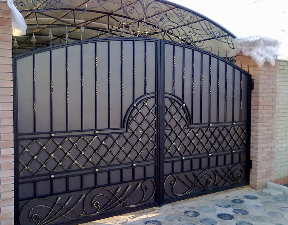 Кованые ворота КВ-23
