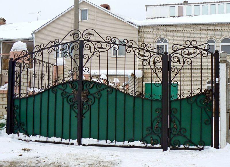 Кованые ворота КВ-33 в Тюмени