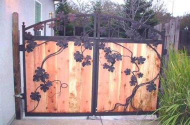 Кованые ворота КВ-35 фото