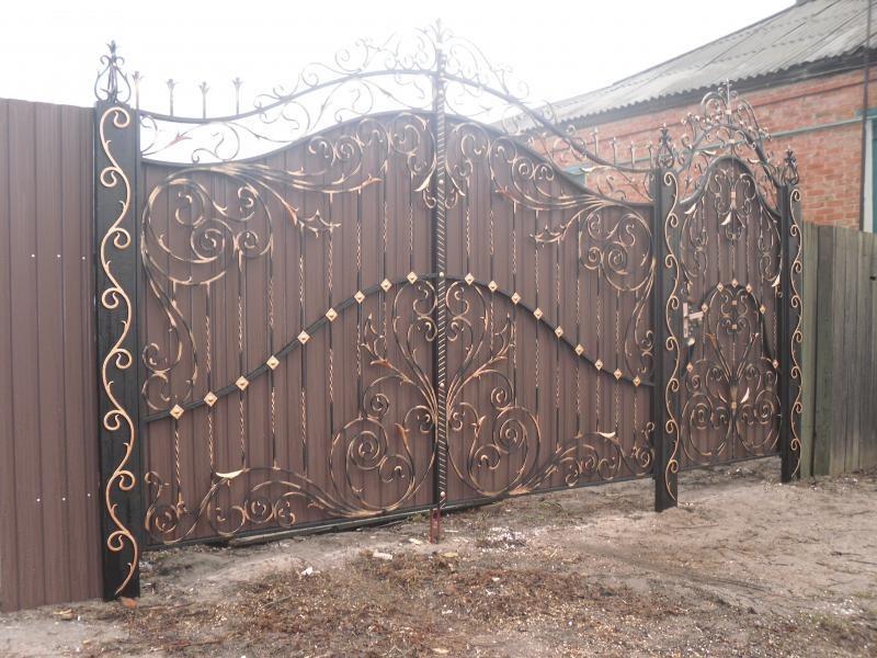 Кованые ворота КВ-38