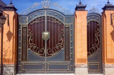 Кованые ворота КВ-10 в Тюмени