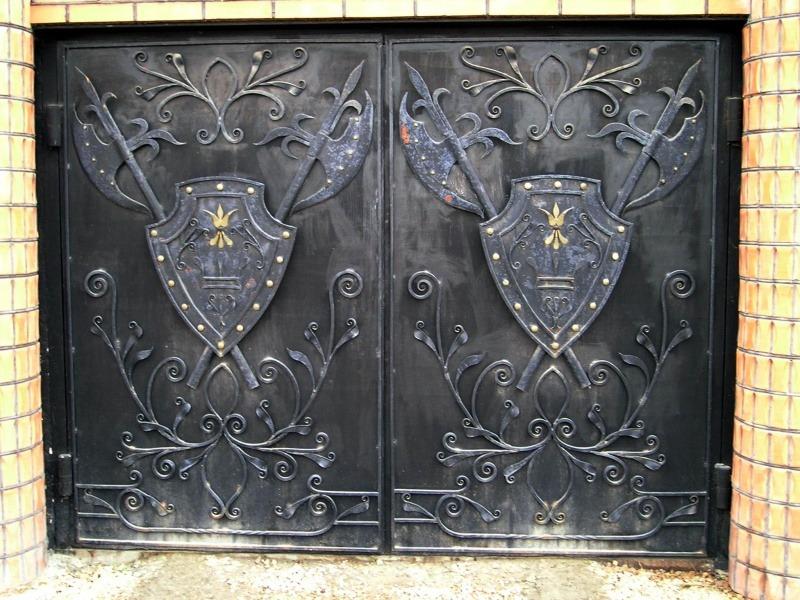 Кованые ворота КВ-40 фото