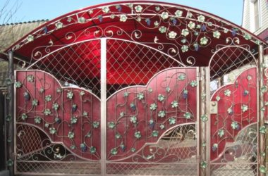 Кованые ворота КВ-41 фото