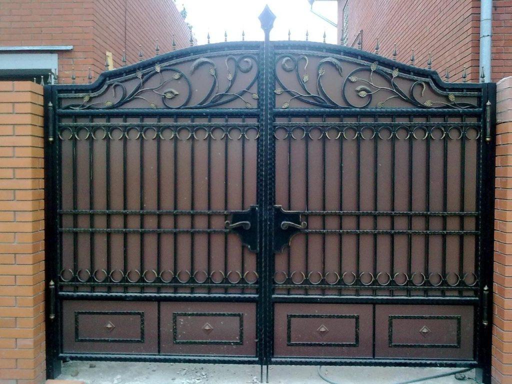 Кованые ворота КВ-12
