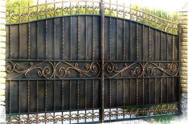 Кованые ворота КВ-24 фото