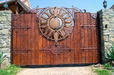Кованые ворота КВ-48 фото