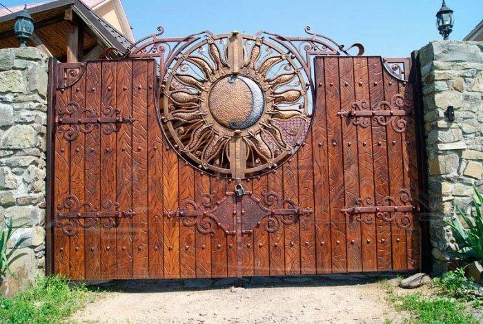 Кованые ворота КВ-48