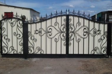 Кованые ворота КВ-26 фото