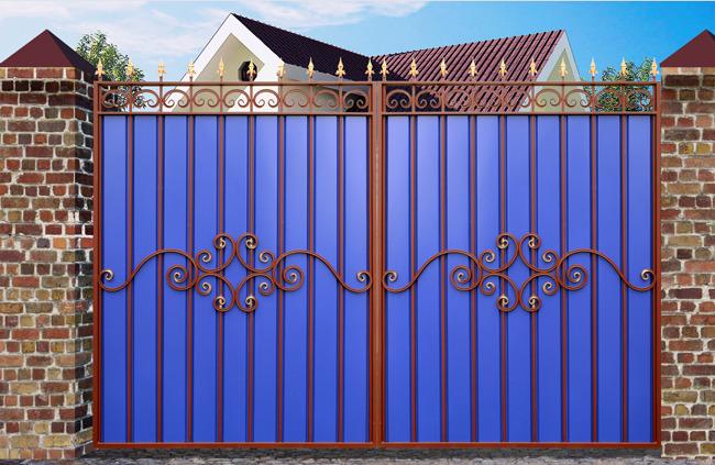 Кованые ворота КВ-29