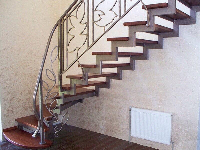 Кованая лестница КЛ-4