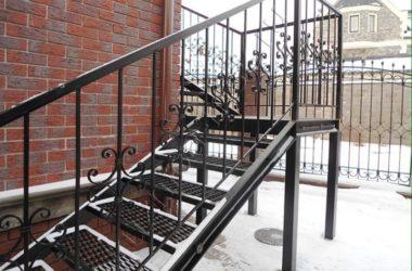 Кованая лестница КЛ-2