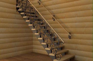 Кованая лестница КЛ-9