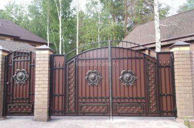 Кованые ворота КВ-54