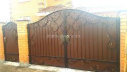 Кованые ворота КВ-56 фото
